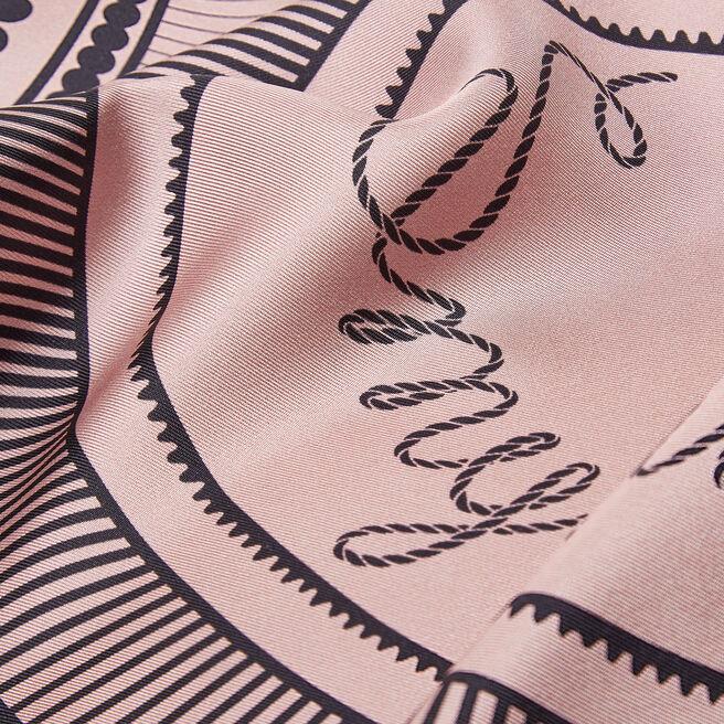 Swirl Logo Small Silk Triangle Scarf