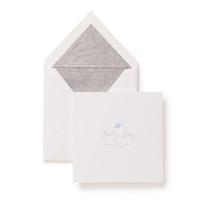 Baby Boy Rabbit Card