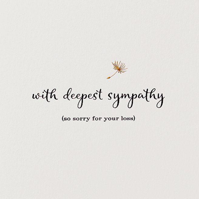 With Deepest Sympathy カード
