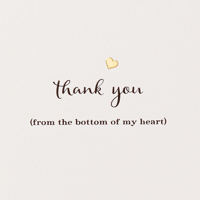 Thank You Heart Card