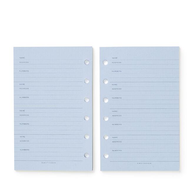 Bijou Organiser Address Refill White